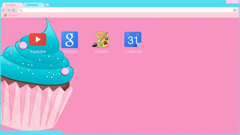 theme google pink pink cupcake theme google chrome y torch by