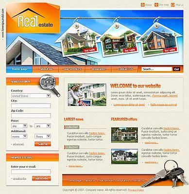 we buy houses website templates real estate best website templates