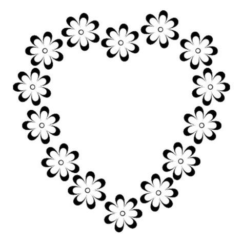 imagenes de flores y corazones infantiles flores con corazones para colorear e imprimir