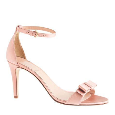 blush pink high heels j crew satin bow high heel sandals in pink vintage blush