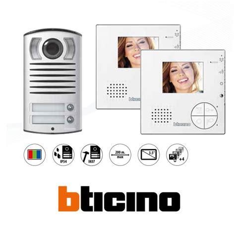 videocitofono swing bticino kit 2f classe 100 v12b linea 2000 2f bticino 365521