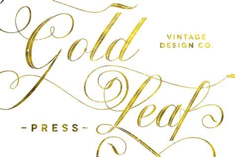 gold pattern font gold leaf effects