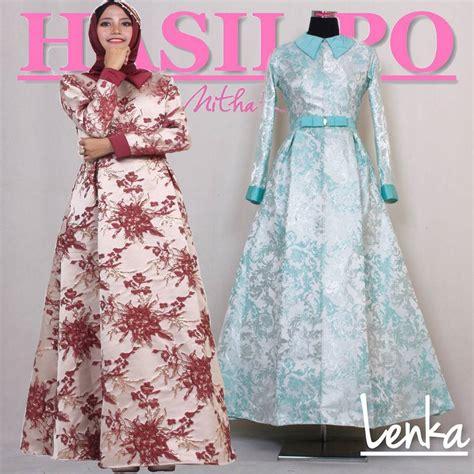 Baju Gamis Amar Putih Kerah Tinggi Bahan Silky gamis pesta modern lenka dress made by order sa ma ra boutique butik baju pesta keluarga