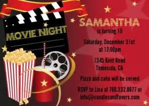 movie themed party invitations cimvitation