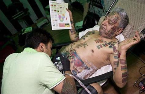 tattoo maker in multan guinness rishi the human flag pole xcitefun net