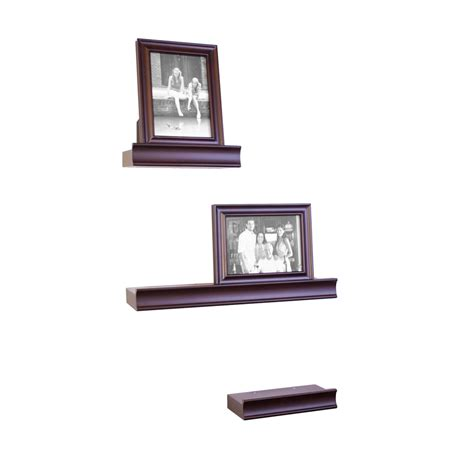 Shop Allen Roth 5 Piece Set 17 62 In Wood Wall Mounted Lowes Wall Shelving