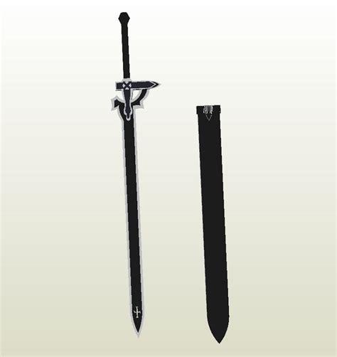 Papercraft Swords - 25 best ideas about kirito elucidator on