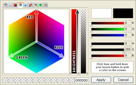 color picker rgb rgb color picker html