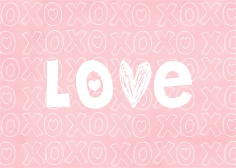 cute xoxo wallpaper love print free valentine s printable makoodle