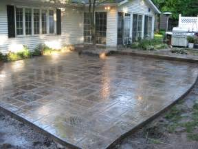 Concrete Backyard Ideas Cyprus Slate Mediterranean Patio Cleveland By L S Concrete Inc