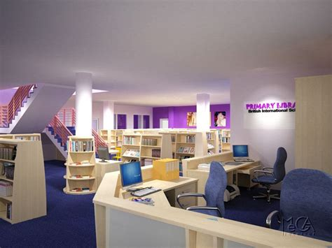 library colors library interior design schools with purple carpet and