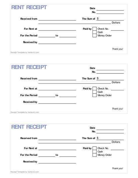 Rent Receipt Letter Pdf Blank Receipt Exle Masir