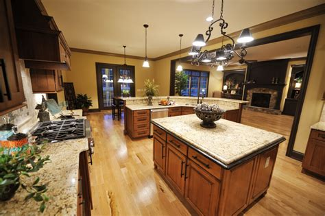 Kitchen Countertops Without Backsplash 52 enticing kitchens with light and honey wood floors