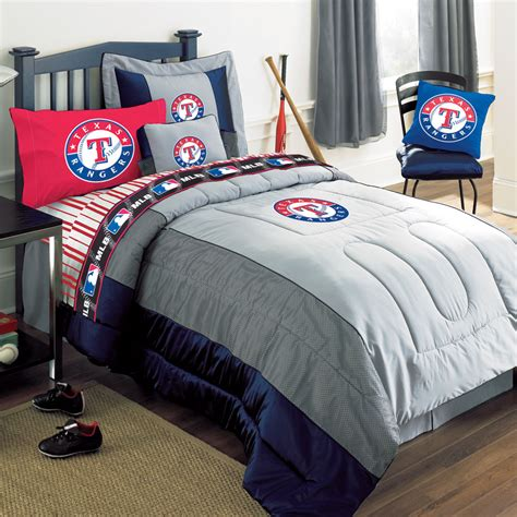 Texas Rangers Mlb Authentic Team Jersey Bedding Queen Size Baseball Bedding Set