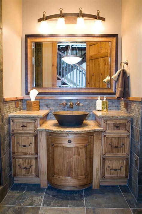 rustic bathroom ideas pinterest rustic bathroom vanity ideas intended for residence