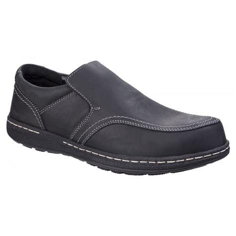 Black Hush Puppies hush puppies mens vindo victory black formal slip on shoes