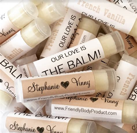 wedding favors lip balm unique wedding favor ideas guest will use erin pelicano