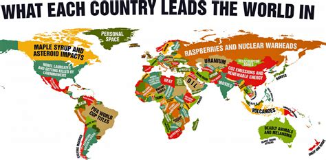 MAP: What Every Country Leads The World In   Business Insider