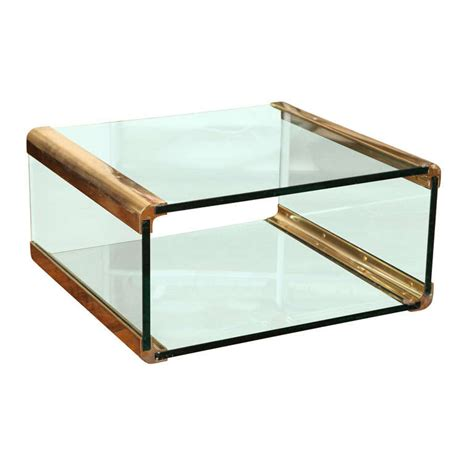 bronze and glass coffee table at 1stdibs