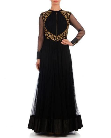 Black color anarkali gown ? Panache Haute Couture