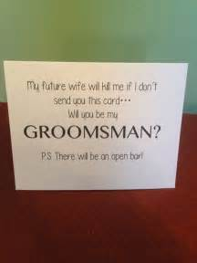 Ways To Ask Bridesmaid To Be In Wedding Funny Will You Be My Groomsman Card Wedding Boys And Deer