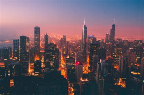 chicago skyline on