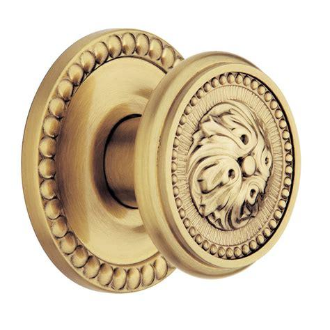Satin Brass Door Knobs by Shop Baldwin 5050 Satin Brass Brown Passage Door