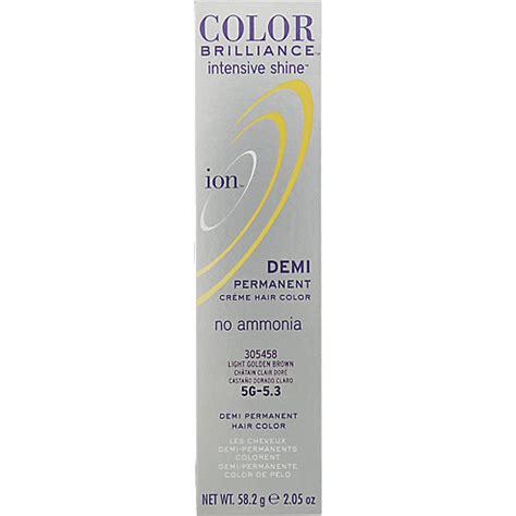 ion light golden brown ion color brilliance intensive shine demi permanent creme