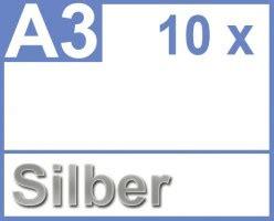Folie A3 Drucken by Faxland De Klebefolie 10 X Din A3 Silber Druckerfolie