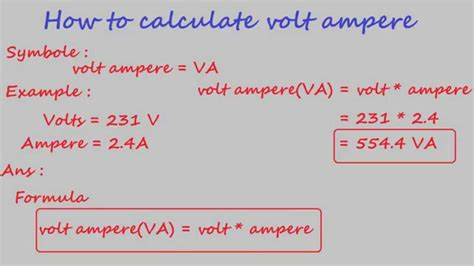 how to calculate volt ere electrical calculation