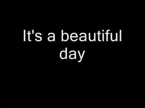 lyrics it s a special day it s a beautiful day reprise lyrics