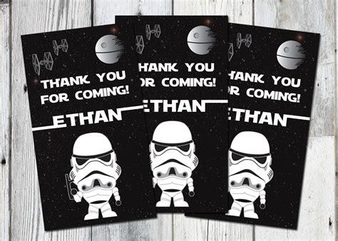 printable star wars thank you star wars favor tags printable thank you bag tag with darth