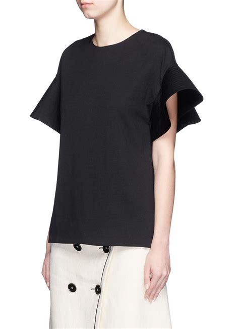 Flare Sleeve Shirt lyst beckham flare sleeve jersey t