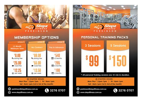 design flyer cost elegant playful fitness flyer design for stepz fitness