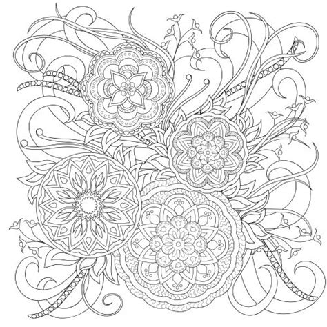 mandala muses a highly detailed coloring book books 29 best images about advanced flower coloring pages on