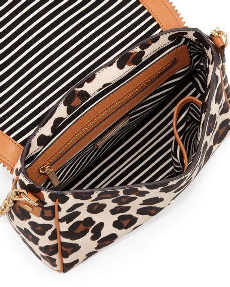 burch kerrington leopard print crossbody bag
