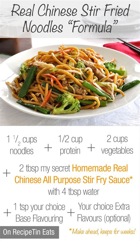 printable chinese recipes chinese stir fry noodles build your own recipetin eats