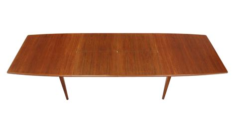 Pop Up Dining Table Large Mid Century Modern Teak Dining Table With Two Pop Up Leafs For Sale At 1stdibs