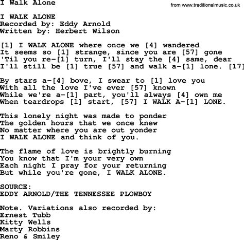 i walk alone bluegrass lyrics with chords