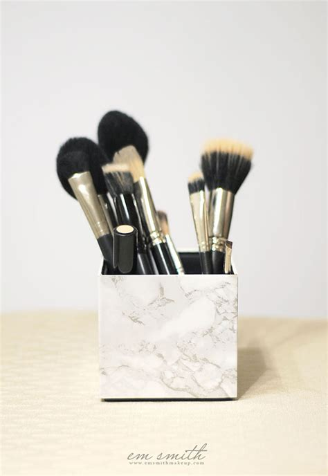 pattern for makeup brush holder diy marble makeup brush holder hello island mama
