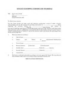 Certification Letter For Tenant florida commercial tenant estoppel certificate legal