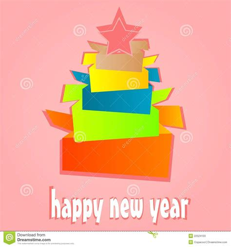 New Year Origami - origami new year tree card stock photos