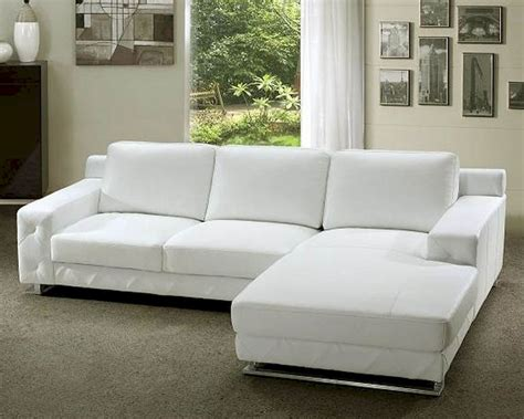 Leather White Sofa White Leather Sectional Sofa Set 44l0680