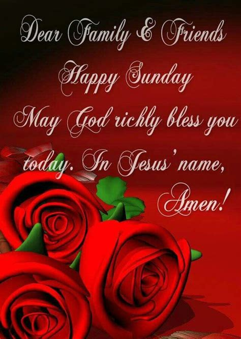dear family and friends happy sunday pictures photos and images for