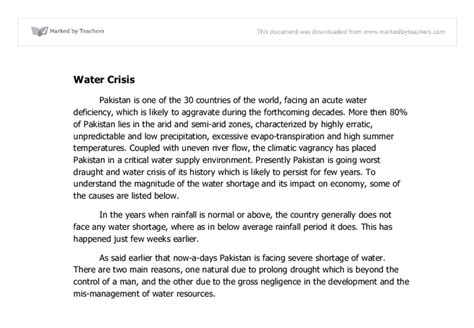 Water Crisis Essay by Water Crisis Essay Driverlayer Search Engine