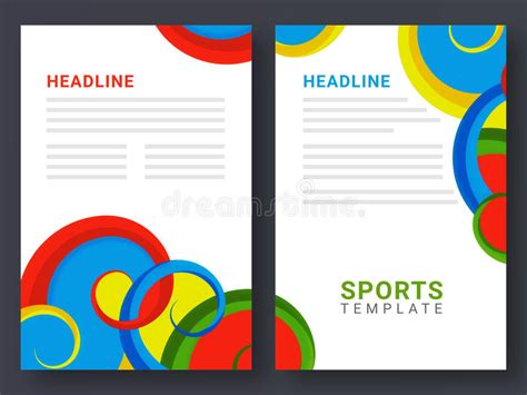2 page brochure template two page brochure template for sports concept stock
