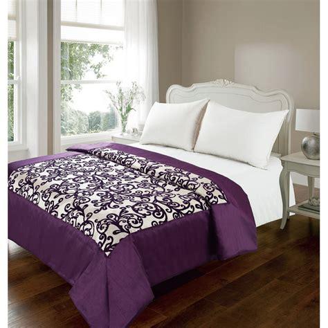 purple damask bedding b m