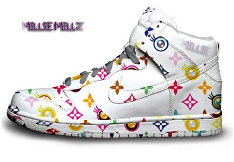 Lv Syar I Rainbow nike rainbow dunks louis vuitton pattern colorful high top