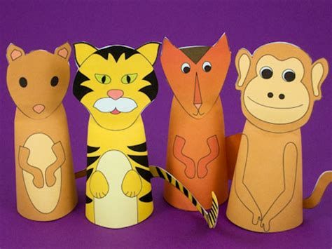 How To Make Animal Puppets For With Paper - puppets around the world s crafts
