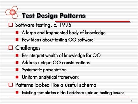test pattern software software test patterns successes and challenges